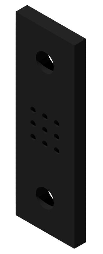 Portalplatte 100x300 80x80, brüniert-8