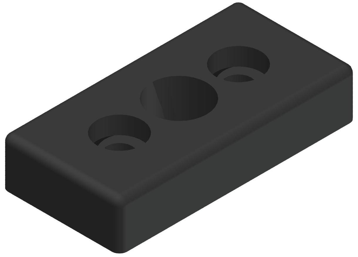 """Pneumatik-Anschlussplatte 40x80 R1/2"""", schwarz-8"""