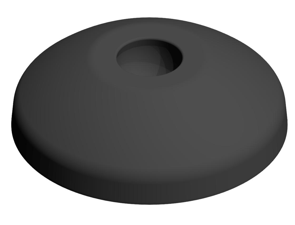 Teller A D60 ZN, schwarz