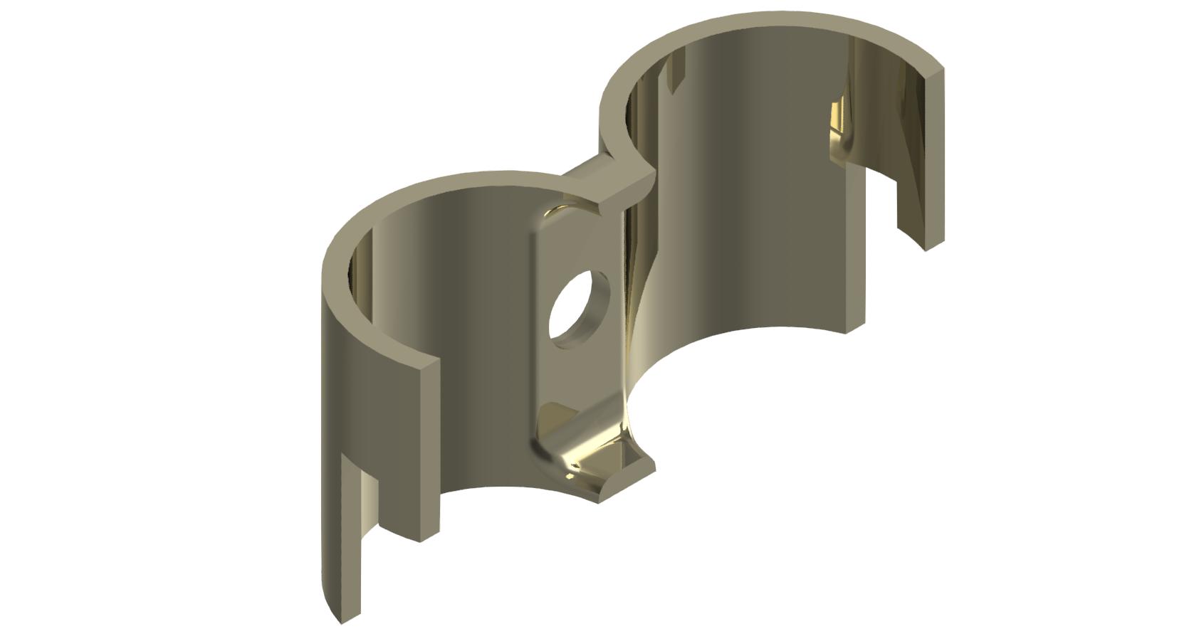 Parallelverbinder, vernickelt