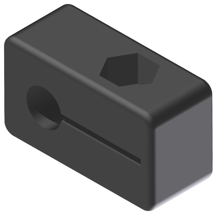 Endschalterhalter D6,5, schwarz-8