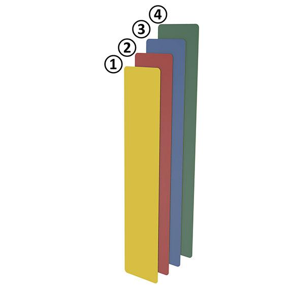 Bodenmarkierung I-Form 50 - blau