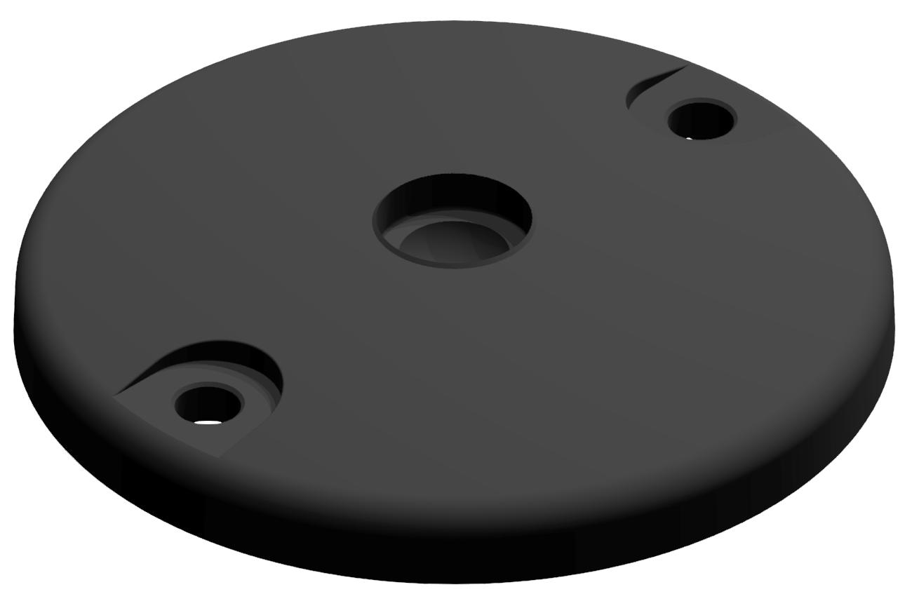 Teller A DÜ D120 ZN, schwarz
