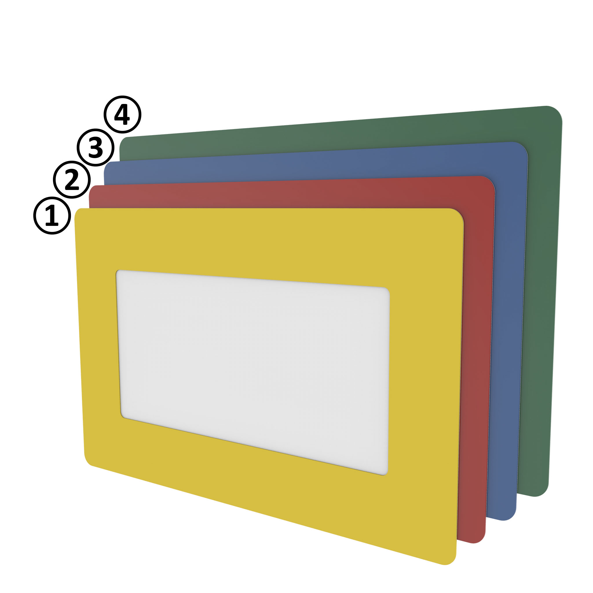 Bodenfenster 1/3 DIN A4 hoch - blau