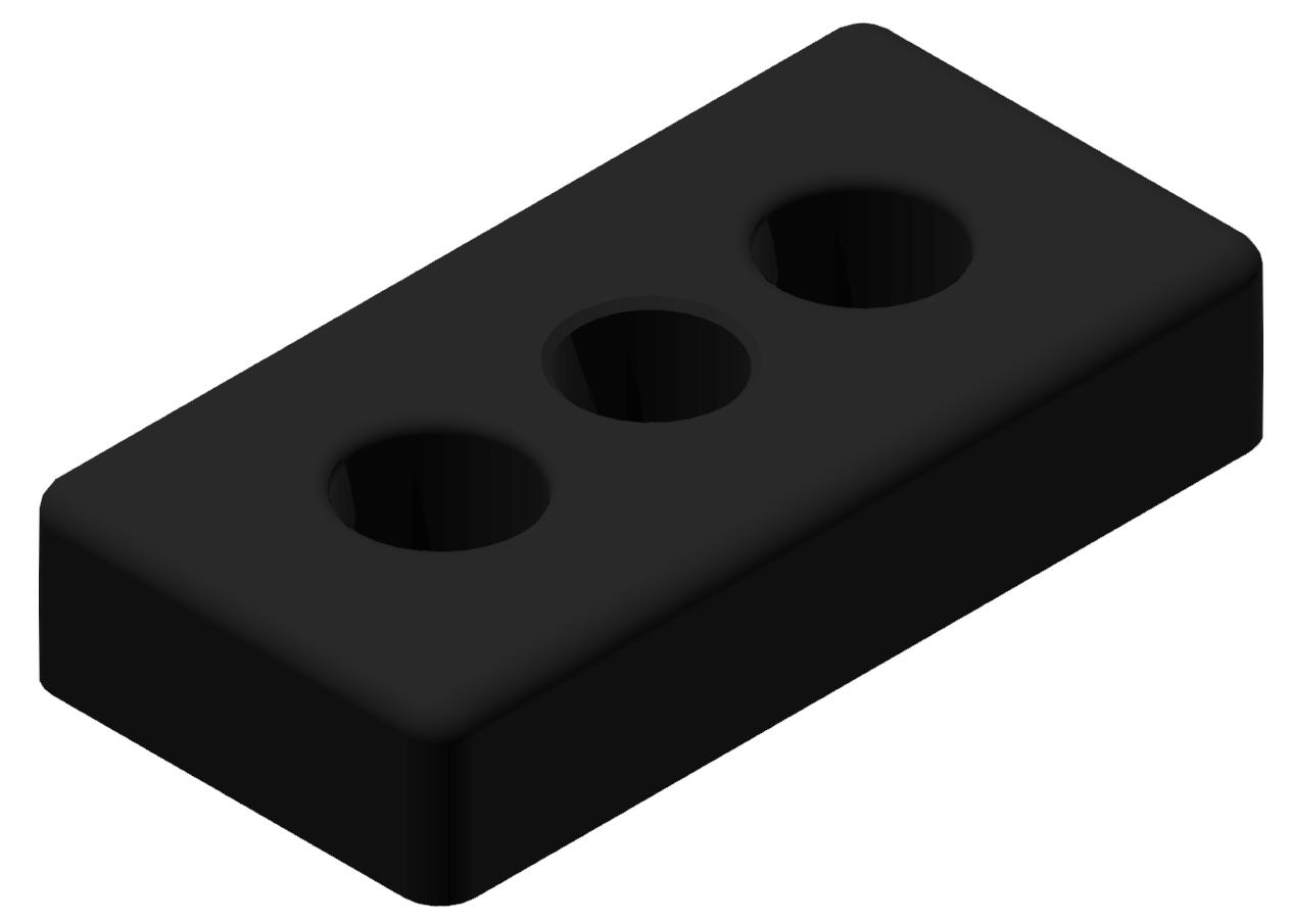 Fußplatte 30x60 M12, schwarz-8 30