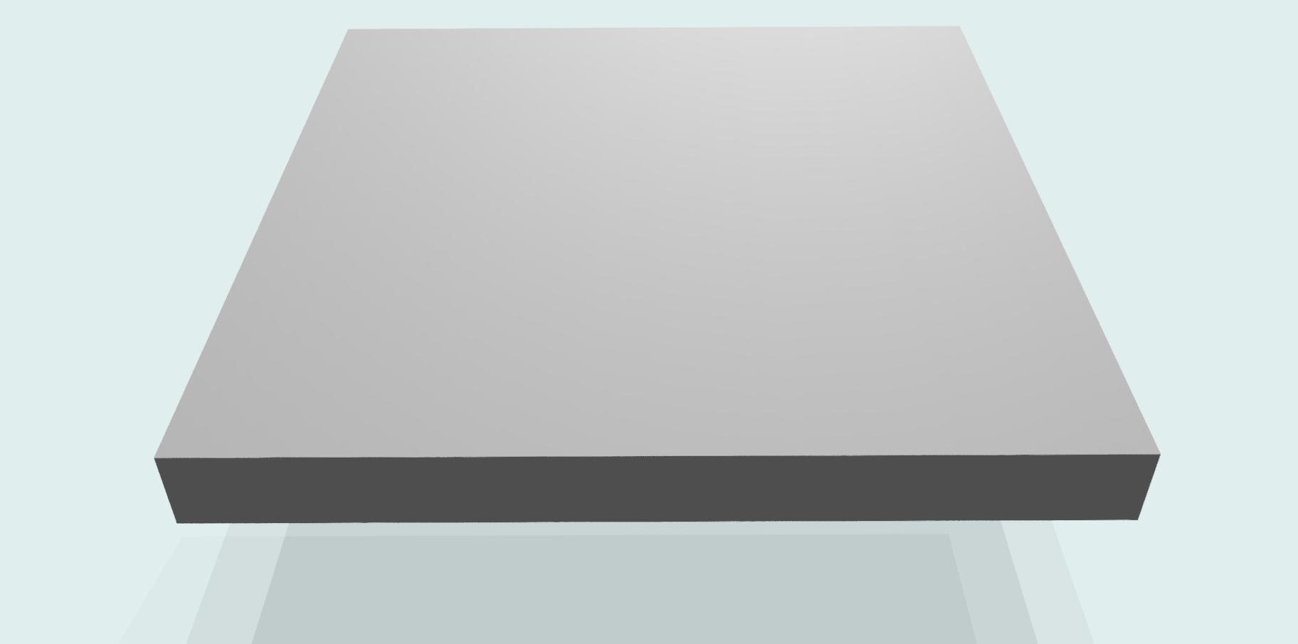 Tischplatte 19 mm melaminharzbeschichtet RAL 7035, grau