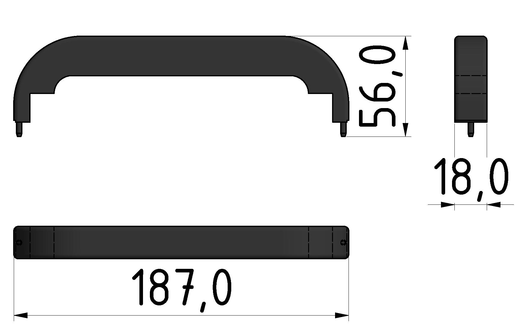 Abdeckkappe Handgriff PA 160, rot