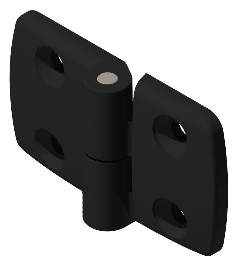 Kombischarnier fest 40x45 PA, schwarz -10
