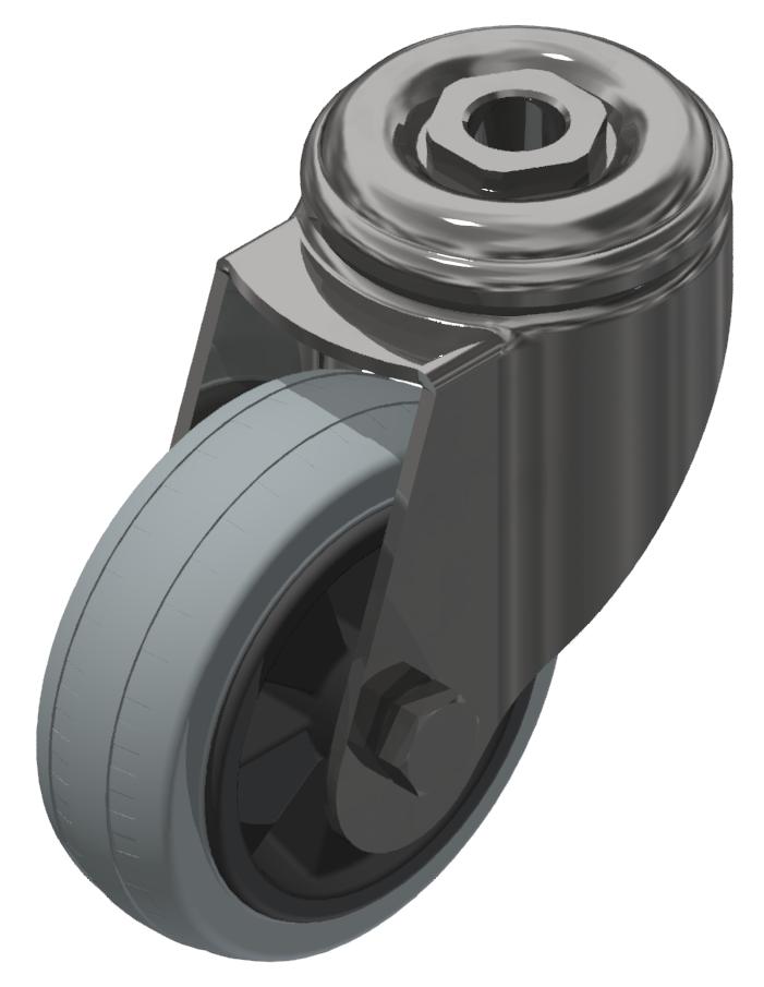 Lenkrolle D80 ESD, verzinkt