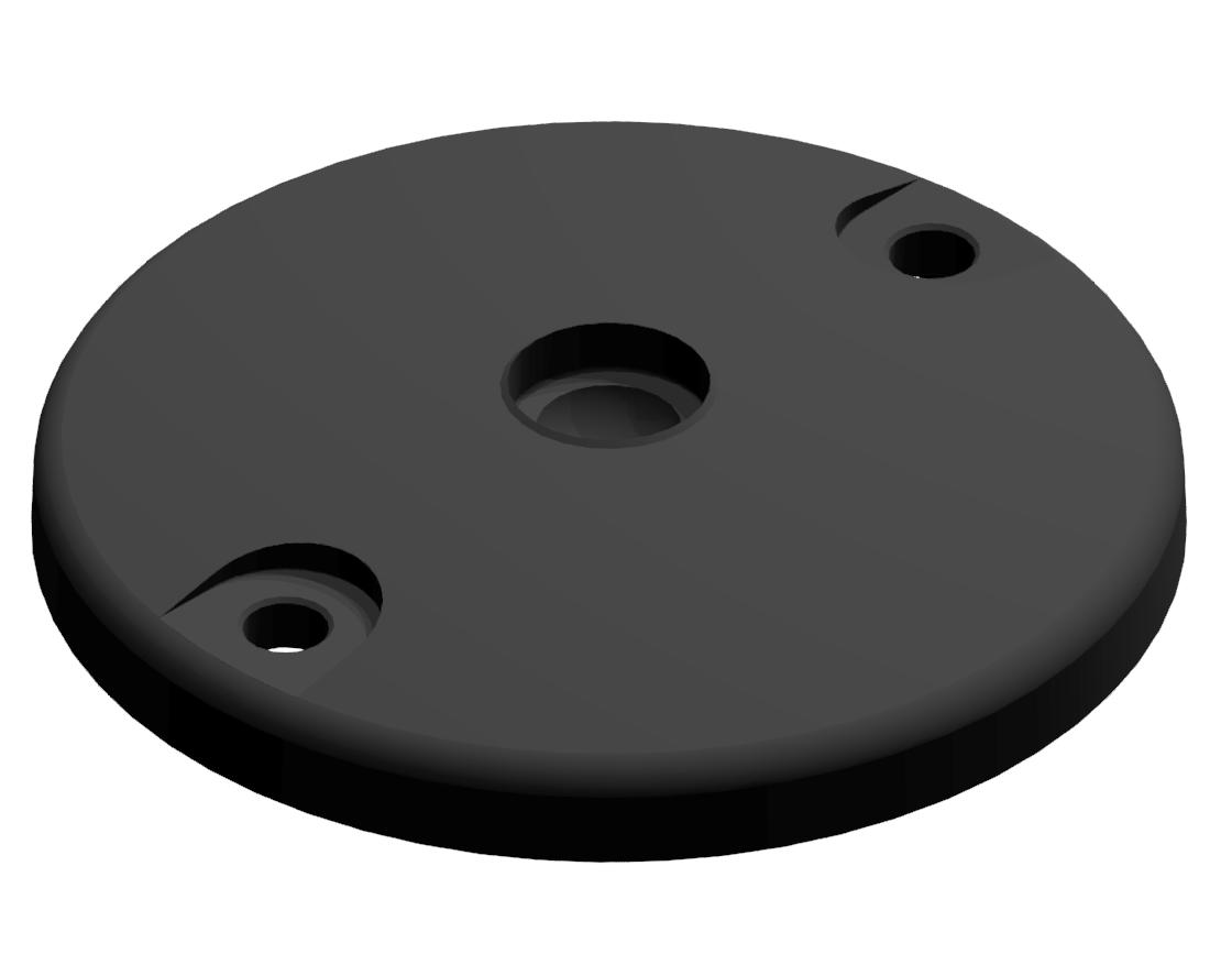 Teller A DÜ D80 ZN, schwarz
