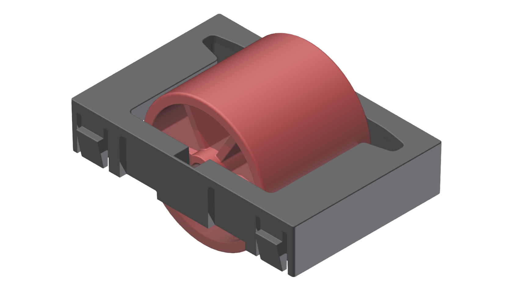 Rollenelement D28, rot-schwarz - Alu