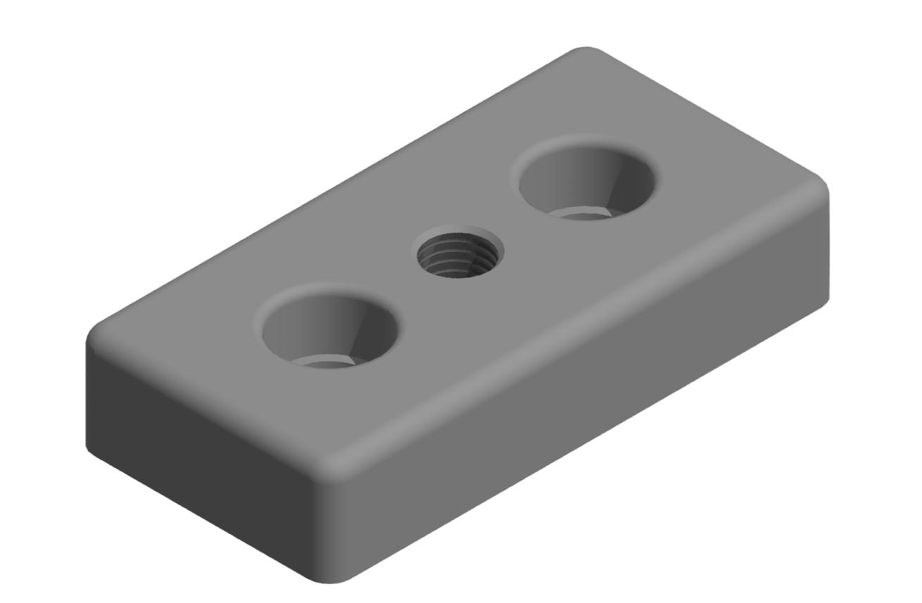 Fußplatte 30x60 M8, natur-8