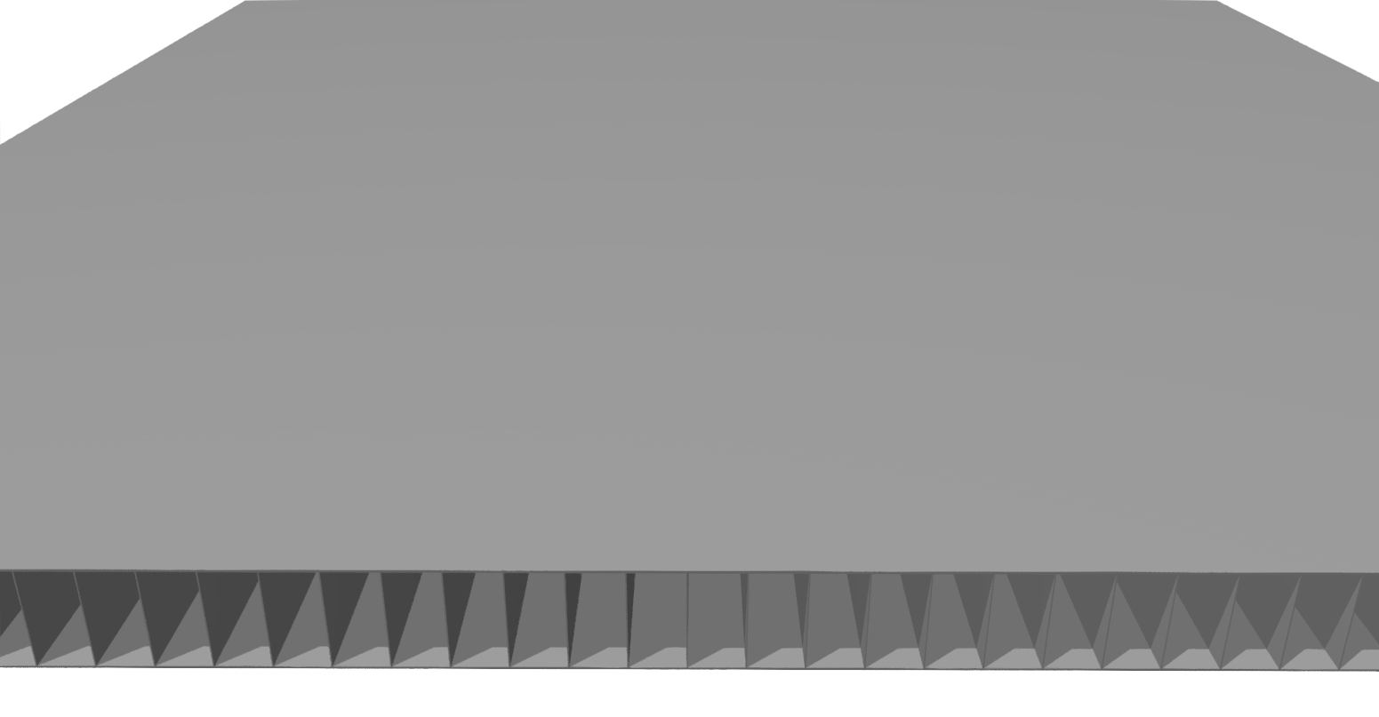 Stegplatte 8 mm PP, grau
