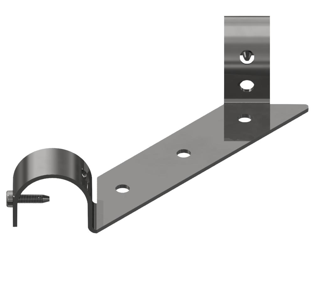 Tischplatteneinhängung Strebe D30, verzinkt