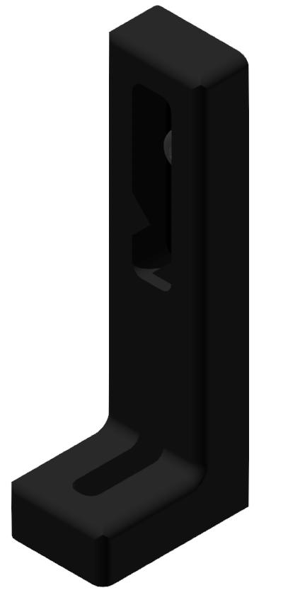 Winkelstellfuß ohne Verstellung, schwarz-8