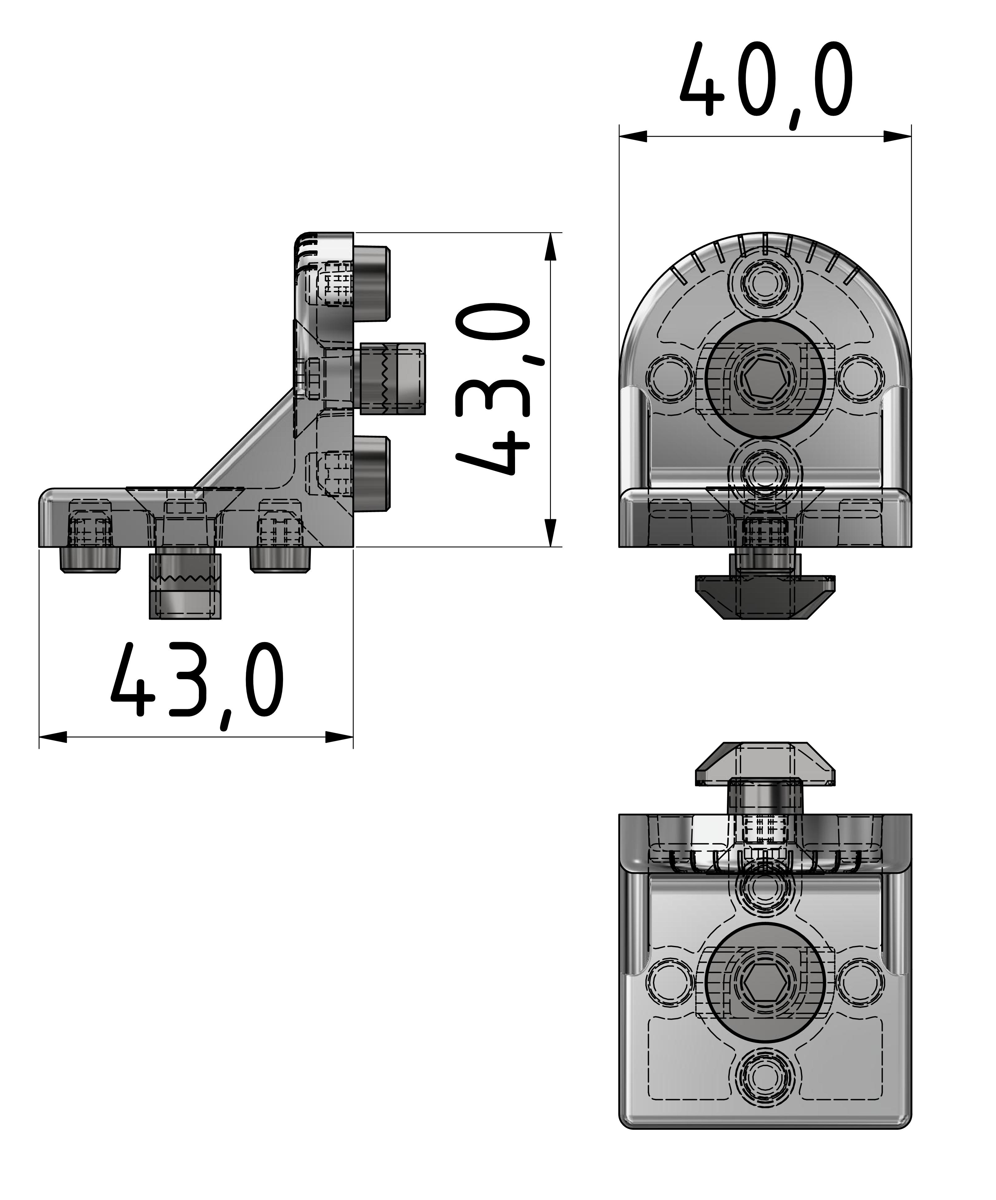Drehwinkelsatz 45, weißaluminium-10