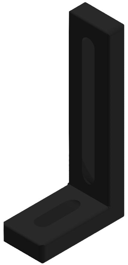Befestigungswinkel 80x40x20 Zn, schwarz-8