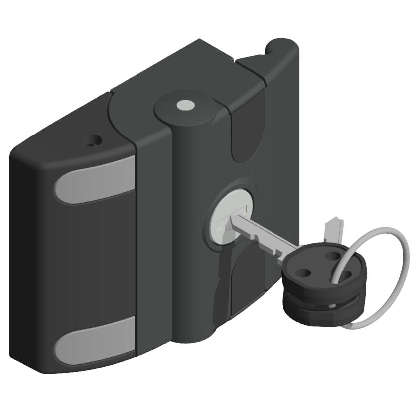 Schiebetür Verschluss verschieden schwarz-8