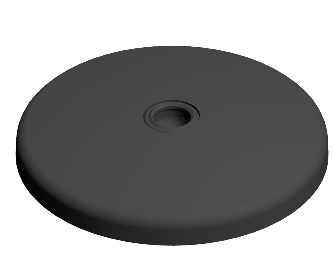 Teller A D120 ZN, schwarz