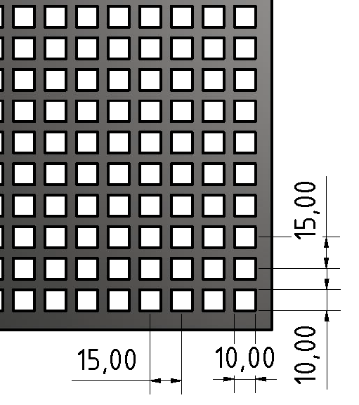 Lochblech ST 2mm Qg-10-15, blank