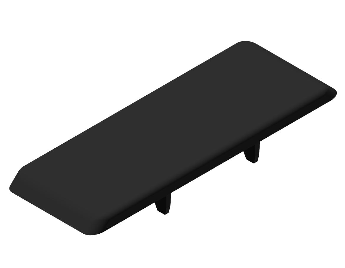 Automatik-Winkel-Abdeckkappe 8 80x80, schwarz