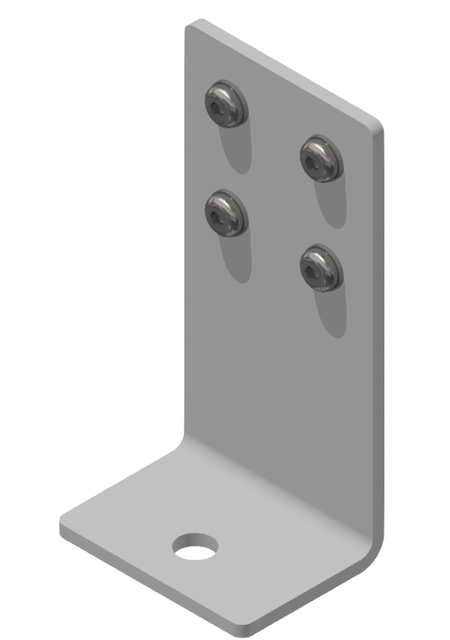 Bodenwinkelsatz 160x60x80-St, weißaluminium-8