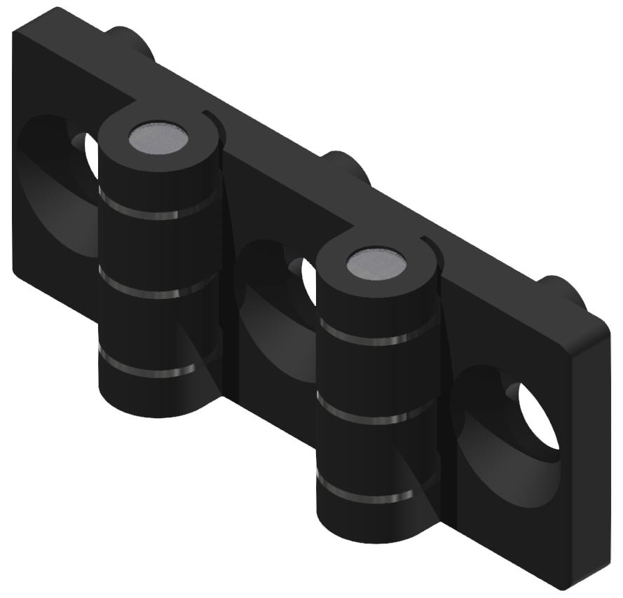 Doppelscharnier 5 PA, schwarz