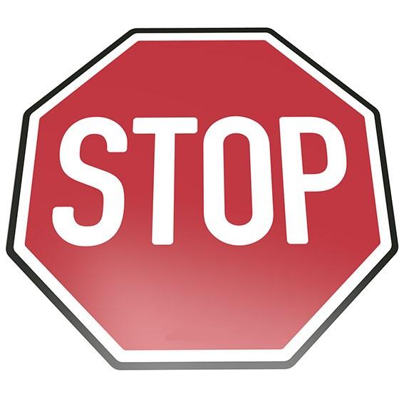 Stop Bodenschild