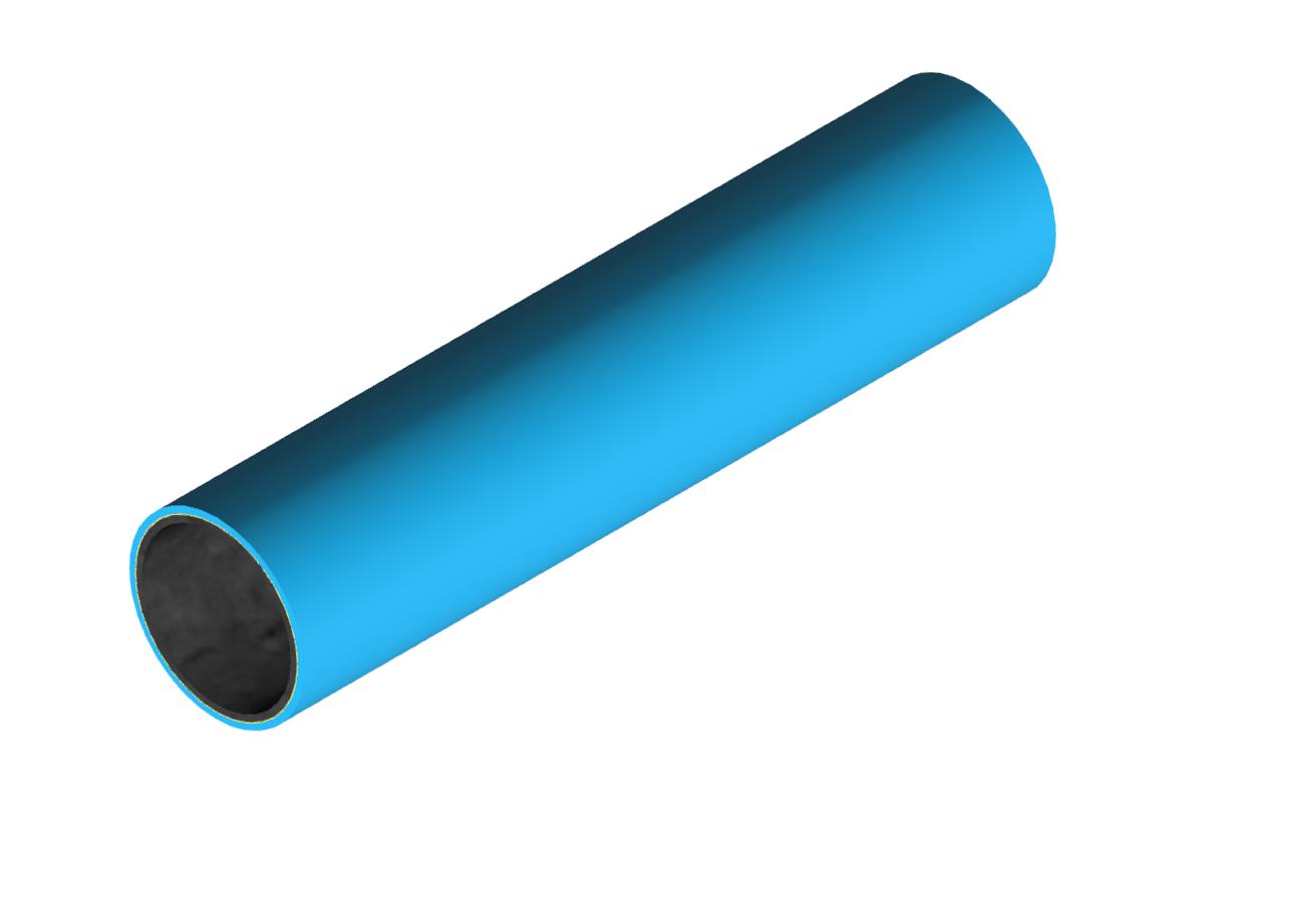 M-Rohr 1 mm himmelblau