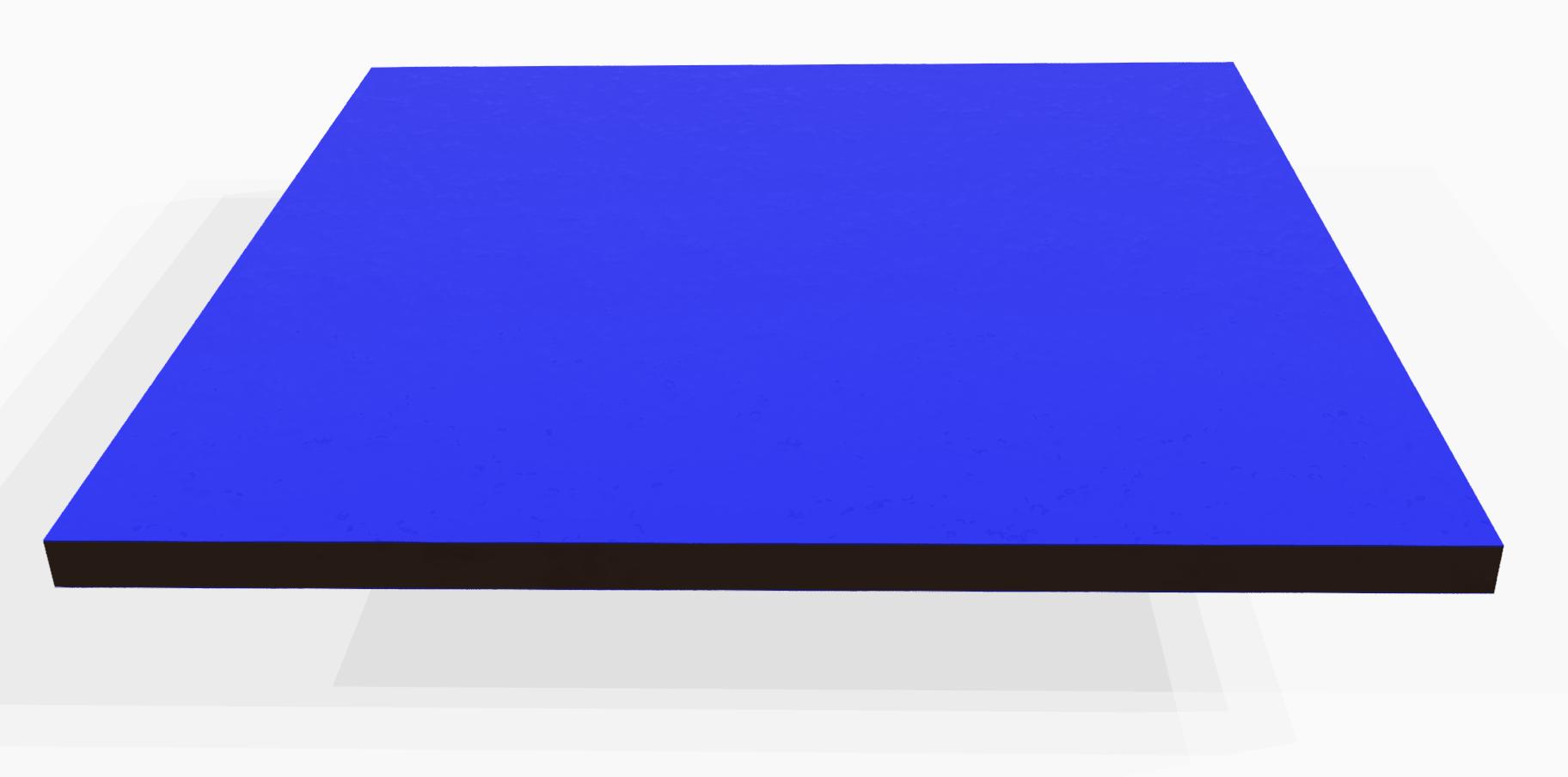 Vollkunststoff 10 mm ähnlich RAL 5024, blau