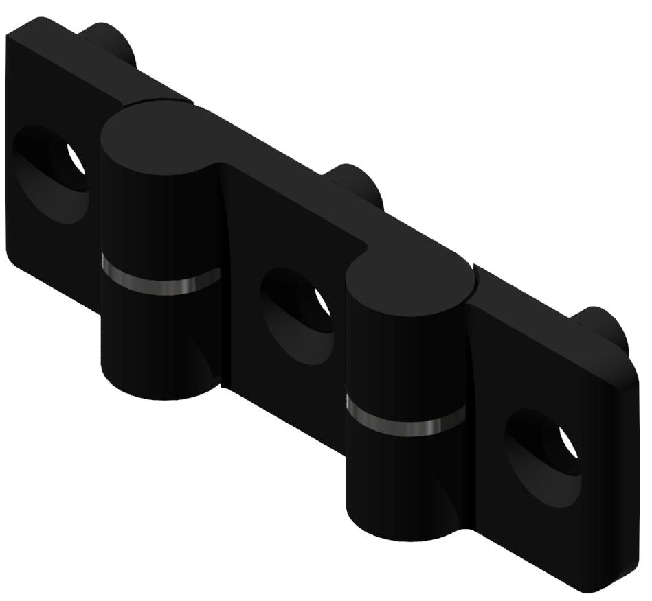 Doppelscharnier 8 PA, schwarz