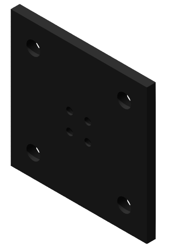 Portalplatte 300x300 80x80, brüniert-8