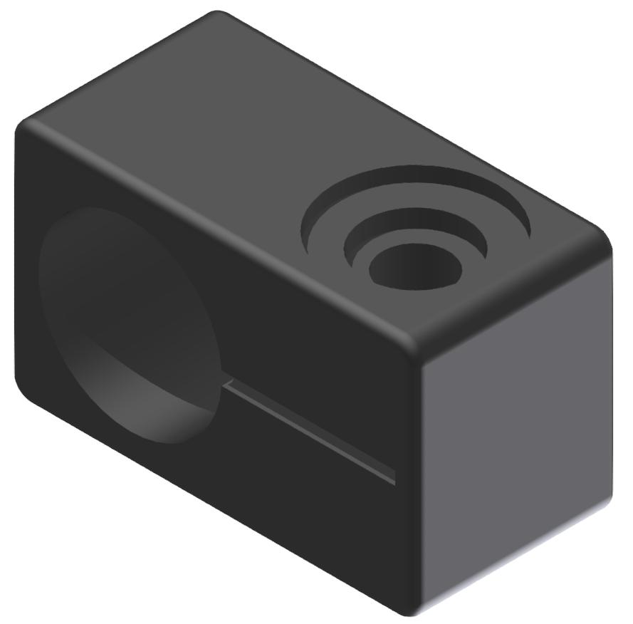 Endschalterhalter D20, schwarz-8