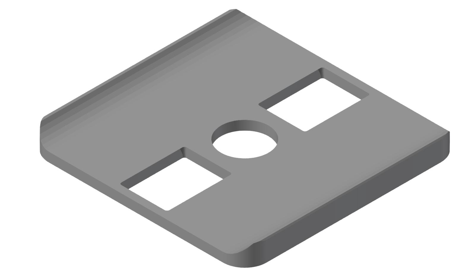 Radien-Dichtung 8 40x40, grau