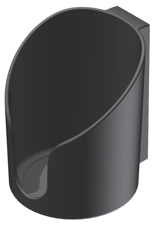 Becherhalter Boden geschlossen, schwarz-8