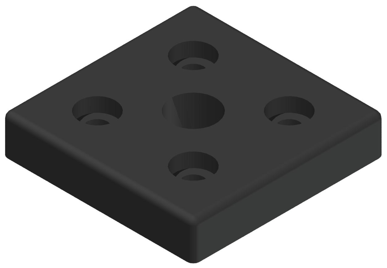 """Pneumatik-Anschlussplatte 80x80 R1/2"""", schwarz-8"""