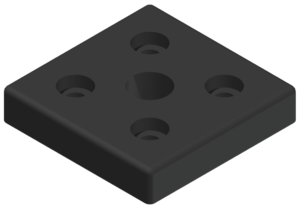 Pneumatik-Anschlussplatte 8 80x80 G1/2, schwarz