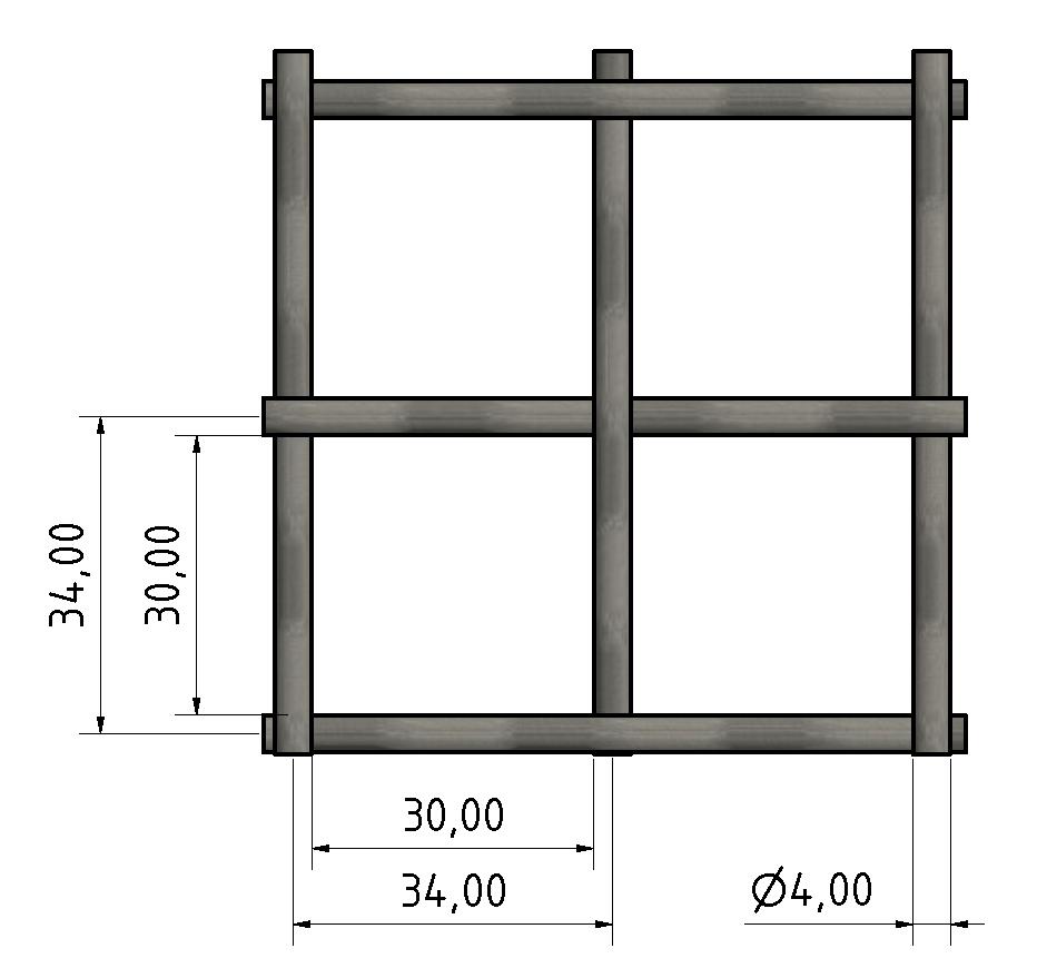 Wellengitter St 4x30, schwarz