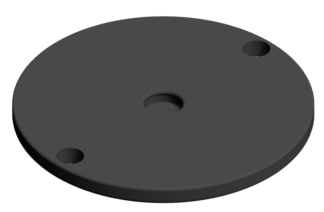 Gummieinsatz A D120, schwarz