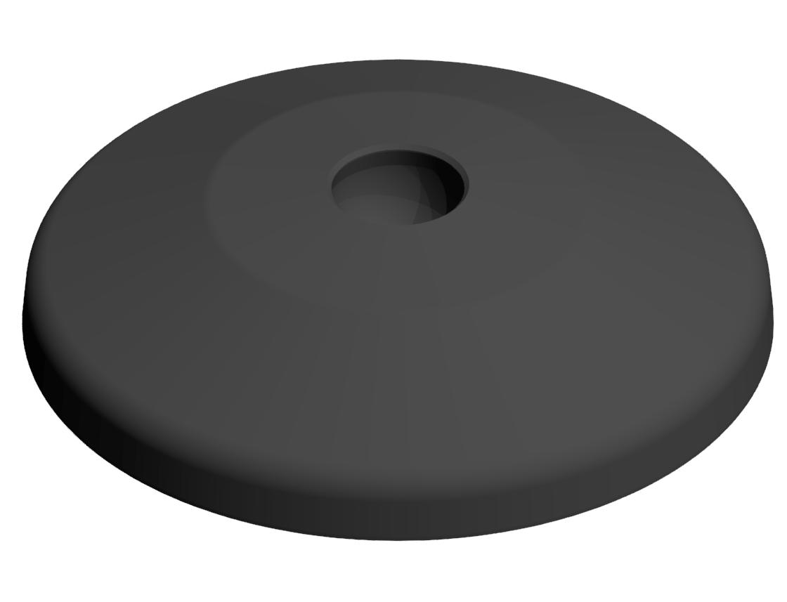 Teller A D80 PA, schwarz