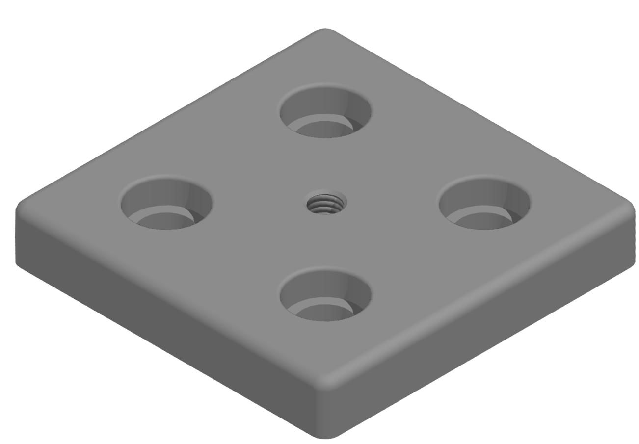 Fußplatte 100x100 M10 - 10