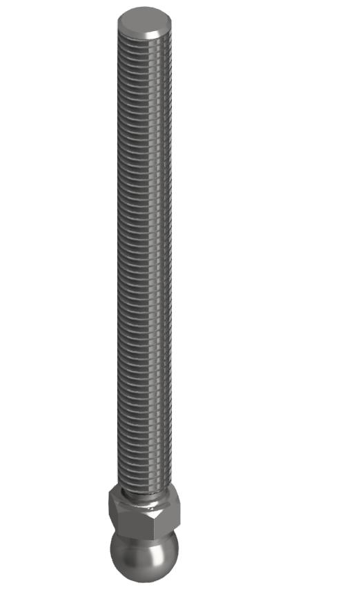 Gewindestange VA M12x125, Edelstahl