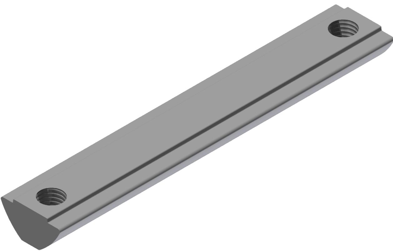 Nutenstein 2xM6-76 steg, verzinkt-8