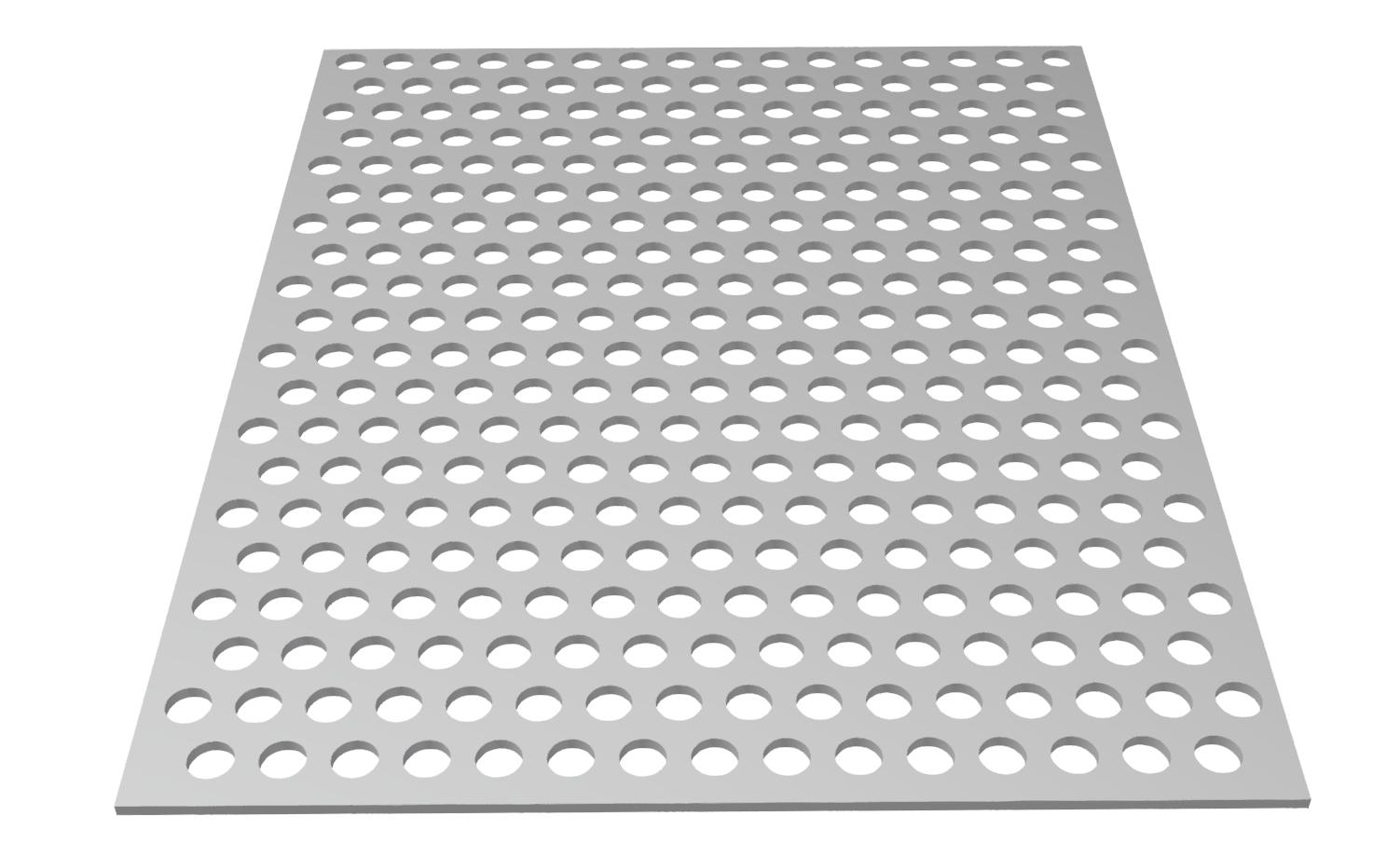 Lochblech AL 3 mm Rv 10-15, blank