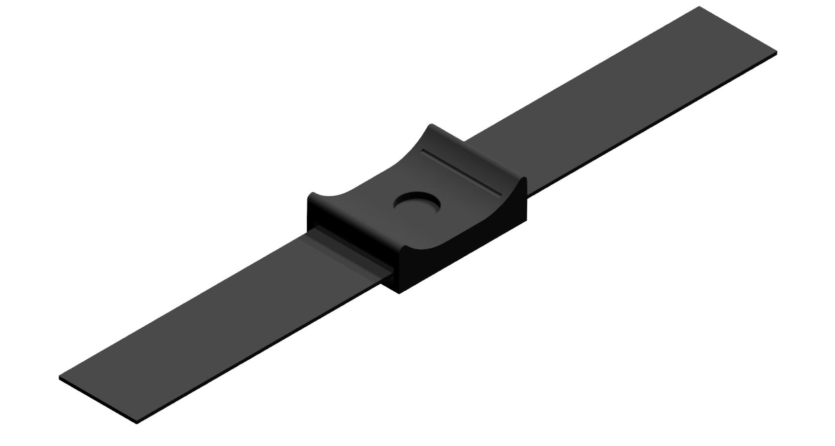 Universal-Halter mit Klettband 8 180, schwarz