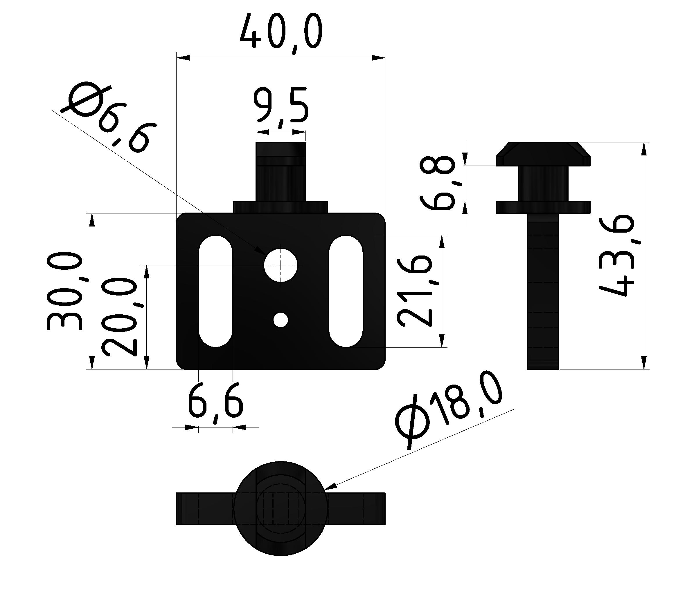 Türgleiter, schwarz - 10