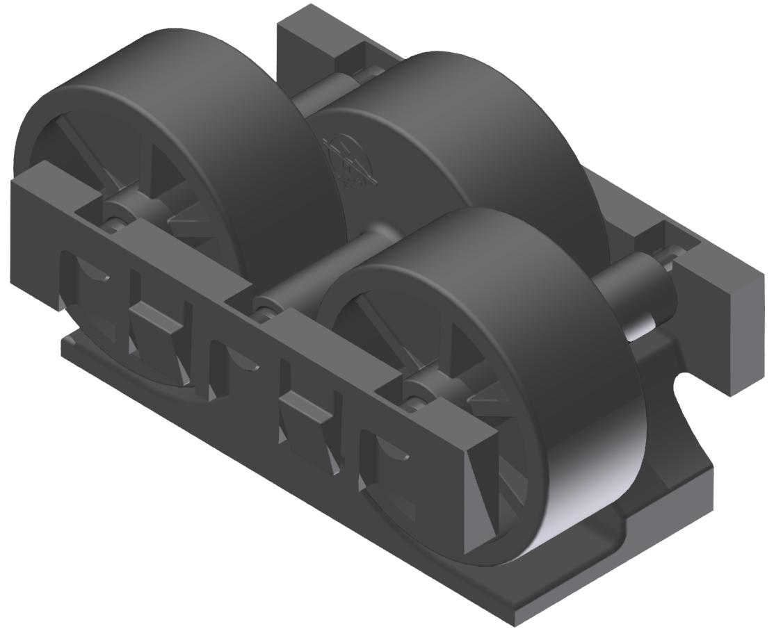 Rollenelement H26 , schwarz-schwarz - Alu
