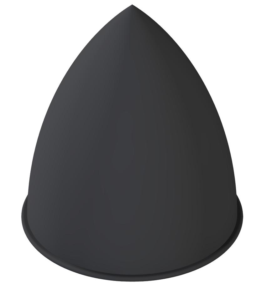 Parabel-Feder M12 D75x89, schwarz