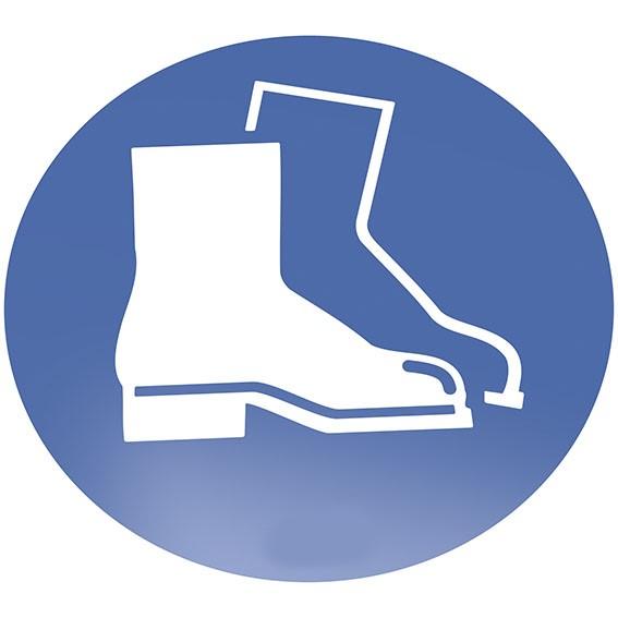 Fußschutz benutzen Bodenschild