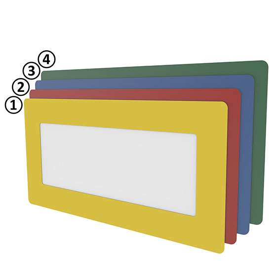 Bodenfenster 1/2 DIN A4 quer - blau